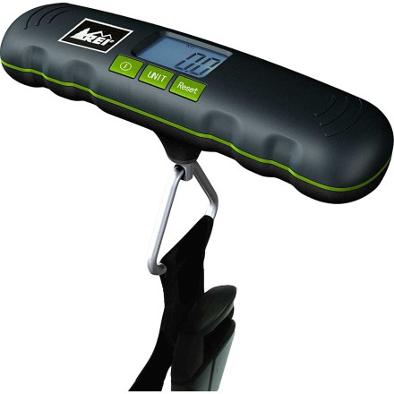 Entertainment Our small REI Digital Luggage scale helps you avoid overweight fees by providing quick, easy-to-read weight readouts of your luggage. - $8.83