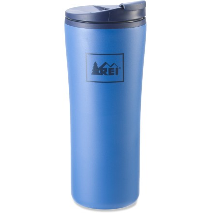 Camp and Hike The double-walled REI Recycled tumbler with flip-top lid keeps your coffee hot on your morning commute. - $5.93