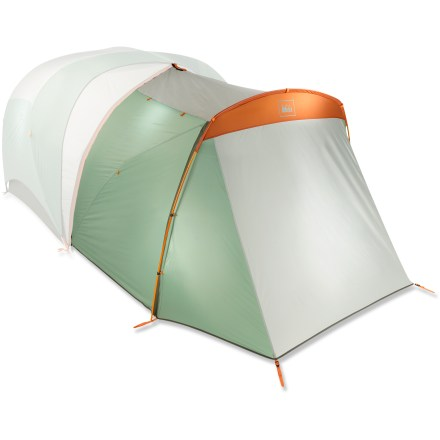 Camp and Hike The REI Connect Tech Garage is much more than a simple vestibule. This pole-supported, dual-door/dual-awning garage provides sun and weather protection, extends storage and expands entry/exit points. - $64.93
