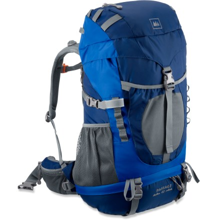 Camp and Hike The REI Passage 40 pack perfectly suits young kids ages 6 - 11 as they learn to love backpacking. It uses the same quality materials and design as adult packs for great comfort and performance. - $49.93
