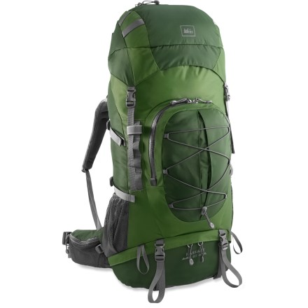 Camp and Hike The REI Passage 65 pack is perfect for Scouts and other kids ages 11 - 17 who love backpacking. It uses the same quality materials and design as adult packs for great comfort and performance. - $79.93