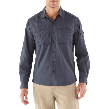 Camp and Hike The REI Sahara Tech long-sleeve shirt features a thoughtful construction that will keep you comfortable while traveling from the desert to the tropics to alpine terrain. - $29.93
