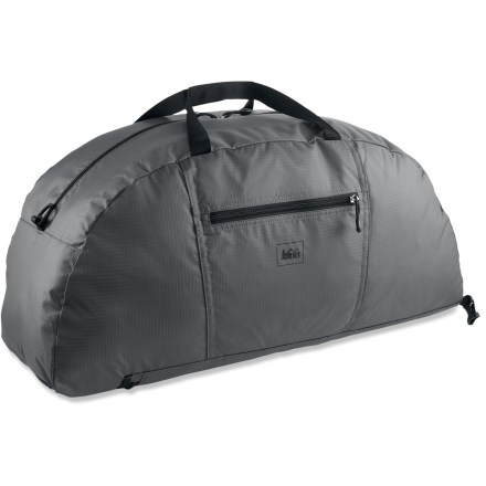 Entertainment The REI Stuff travel duffel offers a versatile storage solution: carry it like a duffle or wear it like a backpack, and when you're finished, simply stuff it in to its own pocket. - $29.50