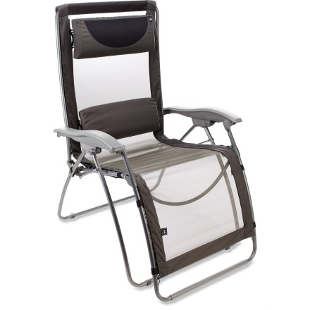 Camp and Hike With a few inches of extra width, the REI Comfort Lounger XL chair provides spacious luxury and complete adjustability, from fully upright to fully reclined. - $75.93
