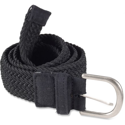 The stretchy REI Round Webbing belt has enough give to keep you comfortable and secure throughout the day. Includes a metal buckle. Belt measures 42 in. long. - $8.83