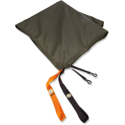 Camp and Hike Use this lightweight nylon footprint under your REI Cirque 2 ASL tent to protect its floor from abrasion and wear. Sized a bit smaller than tent floor to prevent pooling of water between tent and ground sheet during wet weather. Webbing stake-outs at tent corners provide easy attachment. - $11.93