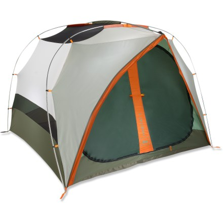 Camp and Hike A home-away-from-home, the REI Hobitat 4 tent is a spacious and easy-to-use campground tent. Hobitat 4 features 1 generously sized end door. - $219.93
