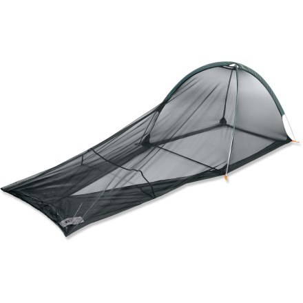 Camp and Hike Made for adventure travelers and minimalist backpackers, this is a 1-person shelter that uses EPA-registered, odorless Insect Shield(R) Repellent Gear to fend off flying, biting critters. - $39.93