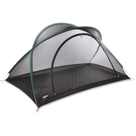 Camp and Hike Made for adventure travelers and minimalist backpackers, this is a 2-person shelter that uses EPA-registered, odorless Insect Shield(R) Repellent Gear to fend off flying, biting critters. - $69.93