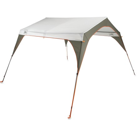Camp and Hike Big enough to set up over a picnic table and sturdy enough to stand in gusty winds, this freestanding, floorless shelter protects from rain and sun on car camping adventures, or in your back yard. - $129.00