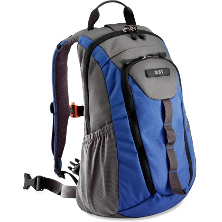 Camp and Hike The REI Super Nova pack helps kids tackle outdoor adventures while carrying their own gear! Zippered main compartment can carry everything a child needs for summer day trips. Zippered front pocket organizer features a key clip and 2 mesh pockets and room for smaller essentials, such as lip balm and sunscreen. Side mesh pockets provide storage for found treasures, sunglasses or favorite gizmos and gadgets. Padded shoulder straps and a webbing waistbelt let child adjust the fit. Shoulder straps have an adjustable sternum strap with an integrated orange safety whistle in buckle. Hydration-compatible design features twin drink tube ports over either shoulder for on-the-go access (reservoir not included). Foam-padded back panel is lined with breathable, moisture-wicking and ventilating mesh. Best fits kids 5 - 10 yrs. old. Special buy. - $19.73