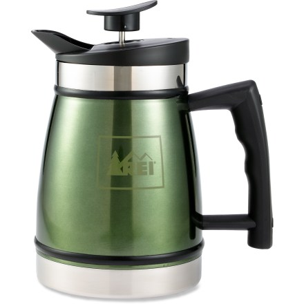 Camp and Hike Enjoy the rich, smooth flavor of French press coffee from the comfort of your campsite with the 32 fl. oz. REI Table Top French coffee press. - $44.95