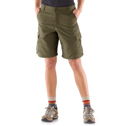 Camp and Hike The soft yet durable REI Sahara shorts are ready to hit the trail. They feature quick-drying fabric and plenty of pocket space for your trail goodies. - $21.83
