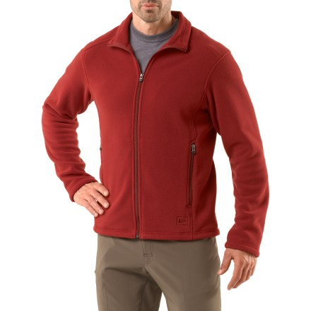 Camp and Hike The REI Woodland fleece jacket offers everyday performance at a great price. Made from a Polartec(R) midweight fleece, it features refined, contemporary styling. - $23.83