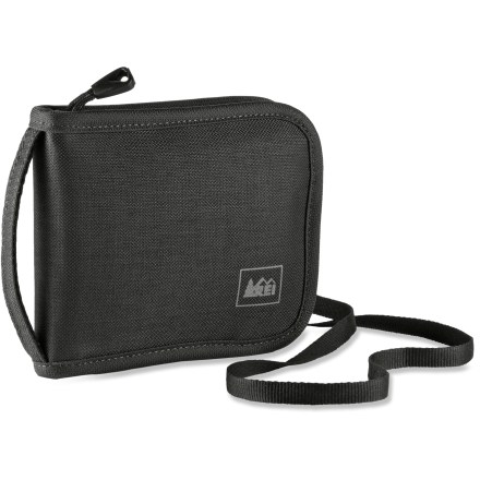 Entertainment The REI Neck Wallet offers enough capacity for the documents, cards and currency needed to navigate the twists and turns of the travel environment in a small, lightweight package. - $6.83