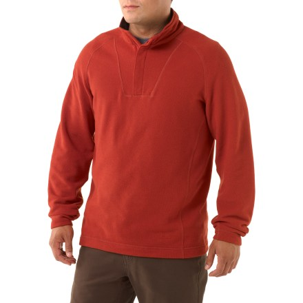 Camp and Hike Pull on the REI Ridge View Quarter-Zip fleece sweater to take the chill out of an evening stroll around town or a hike on a breezy hillside. Breathable, quick-drying polyester fleece offers warmth without a lot of weight, so you stay comfortable. Brushed polyester tricot fabric lines the neck for comfort next to skin. Relaxed fit of the REI Ridge View Quarter-Zip fleece sweater allows for comfort and freedom of movement. - $33.93