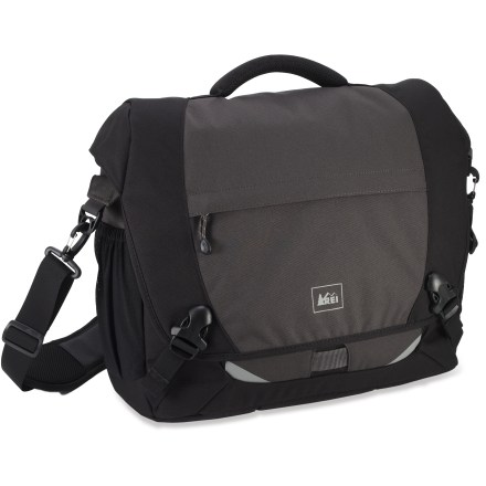 Entertainment The REI Quantum Messenger laptop bag offers an updated take on a classic design, sporting plenty of improvements to keep up with a world that moves as fast as you do. - $42.83