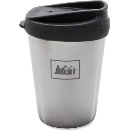 Camp and Hike Next time you stop in at the coffee shop, have the barista fill up your reusable REI Americano double-walled cup. It'll save a paper cup and keep your morning beverage warm for up to 30 min. - $7.93