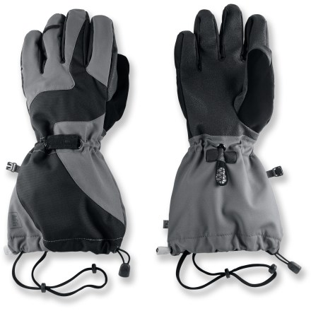 Ski The REI Switchback gloves are built tough to keep hands dry and warm while you're skiing couloirs and climbing peaks. Waterproof, breathable REI Elements(R) inserts keep hands dry while you backcountry ski, traverse glaciers and play in the snow. Removable fleece liners keep hands warm in winter; wear just the liner gloves for jobs requiring greater dexterity. Grippy palms handle ice tools and ski poles with ease. Soft fabric on the thumbs gives you a gentle place to wipe your nose. Wrist cinches and gauntlet closures are easy to operate with 1 hand. Removable leashes secure the REI Switchback gloves to your wrists. - $44.93