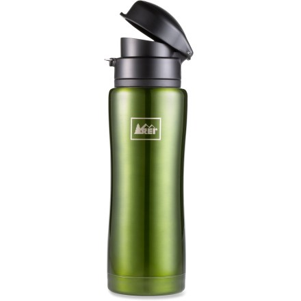 Camp and Hike The REI Flip-Top vacuum bottle is an essential for cold-weather adventures. Made of premium stainless steel, this vacuum bottle will keep your drink nice and warm while you head out and play. - $18.93