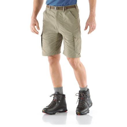 Camp and Hike Whether you're on a dusty trail in the mountains or boarding a plane for an overseas journey, the lightweight REI Sahara Cargo shorts offer the fit and features to keep you happy. - $10.83