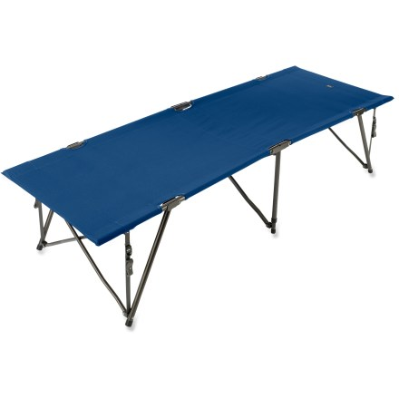 Camp and Hike You can still be close to nature without having to sleep right on it. This folding cot sets up quickly and gets you off the ground for comfort on your car-camping adventures. - $79.50