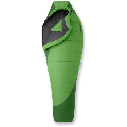 Camp and Hike The women's REI Lyra 3-season backpacking synthetic sleeping bag features amazing compressibility and warmth while balancing price and performance. - $86.83