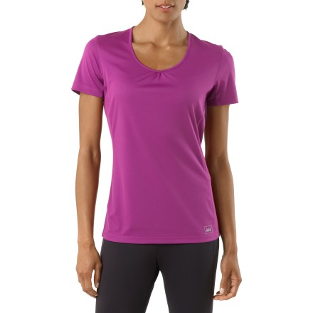 Fitness Bring out the REI Sport T-shirt during your next run. Its soft fabric won't disappoint. - $5.83