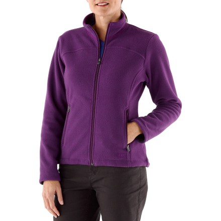 Camp and Hike The REI Woodland fleece women's jacket offers everyday performance at an affordable price. Made from a Polartec midweight fleece, it features refined, contemporary styling. - $23.83