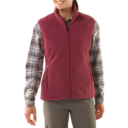 Camp and Hike The REI Woodland fleece women's vest offers everyday performance at an affordable price. Made from a Polartec midweight fleece, it features refined, contemporary styling. - $26.93