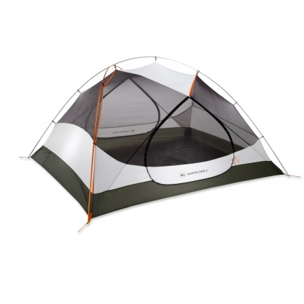 Camp and Hike Unlike cramped tents that sacrifice space for weight savings, the strong, 3-person, 3-season REI Quarter Dome T3 tent feels so roomy inside you may forget its designed for backpacking. - $129.83