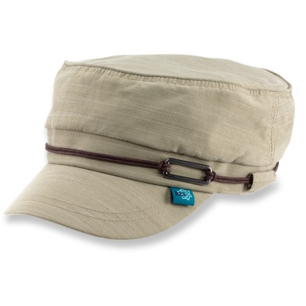 Sports Top off your new summer look with the women's casual REI LaPorte Cadet hat. Nylon exterior has an interior cotton sweatband for comfort. 2 in. brim helps keep the sun out of your eyes. Elastic in back adds a touch of adjustability. - $17.93