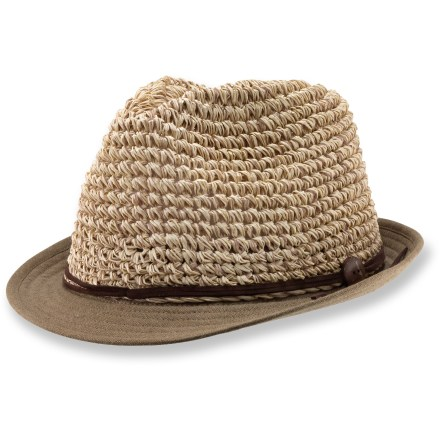 For a midday stroll or an afternoon at the beach, the summery REI Willow Fedora hat adds a touch of style to your look. Woven paper fibers allow for ventilation to keep your head cool. Linen/cotton brim gives the REI Willow Fedora hat an interesting look. - $13.83
