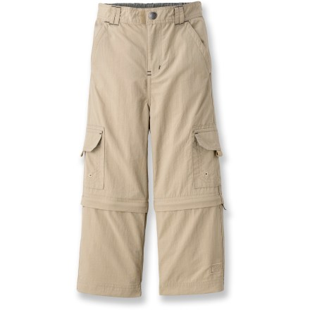 These REI Sahara convertible pants feature zip-off legs and breathable, quick-drying fabric, so toddlers can keep exploring if the weather changes. - $7.83