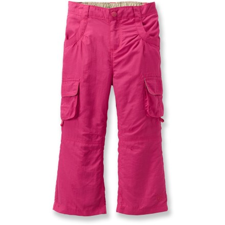 Our adaptable, sun-protective Sahara Roll-Up pants for toddler girls were designed for outdoor fun, from the playground to the trail! - $10.83
