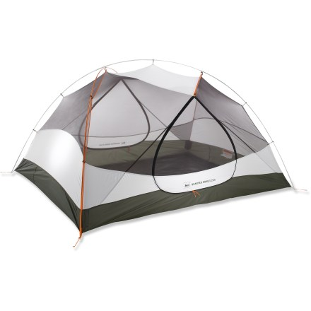 Camp and Hike Unlike cramped tents that sacrifice space for weight savings, the strong, 3-person, 3-season REI Quarter Dome T3 Plus tent feels so roomy inside you may forget its actually designed for backpacking. - $209.83
