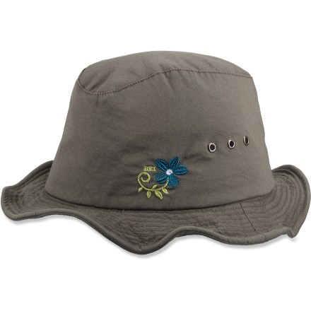 Camp and Hike Shade your eyes from the sun with the fun REI Zion Hiker hat. Cotton exterior is lined with soft cotton for great comfort. Wire in the brim lets you shape it exactly how you want. REI Zion Hiker hat has embroidery on the left side for added appeal. - $16.83