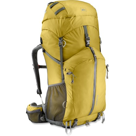Camp and Hike The updated REI Flash 62 pack sports a redesigned frame, hipbelt and back panel, combining ultralight materials with the comfort and performance you'd expect from a heavier pack. - $93.83