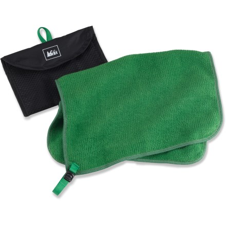 Camp and Hike Textured for increased comfort and absorption, the small-size REI MultiTowel is soft and quick drying. Measuring only 14 x 10 in., the towel is easy to take along on trips into the mountains. - $11.00