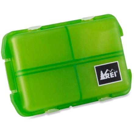 Entertainment The REI 7-Day Pill Box keeps track of vitamins and medications for 7 days in a compact case. - $2.93