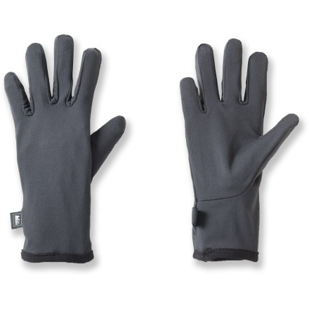 The REI Performance glove liners for kids can be worn alone or as a base layer inside waterproof shell gloves. Technical polyester moves perspiration away from skin to speed its evaporation, helping to keep hands dry. Spandex blended with warm, pill-resistant polyester provides 4-way stretch. - $5.83