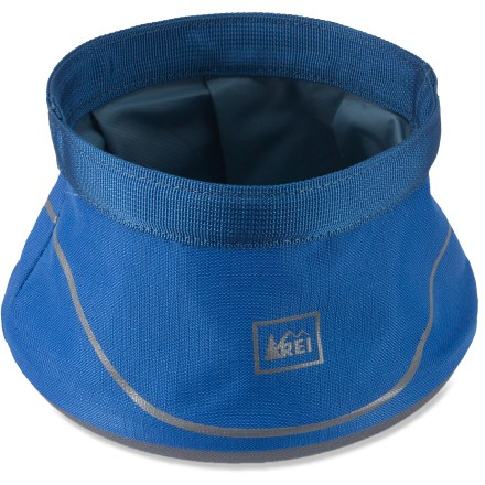 Camp and Hike This REI dog water bowl hydrates thirsty pups. Its generous capacity and intelligent design carry easily when full or collapsed. - $6.93