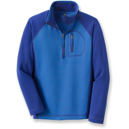 The REI Birdsview half-zip top for boys offers long-lasting comfort, warmth and rugged style. It takes a boy from the trail to the classroom and everywhere in between. - $9.83