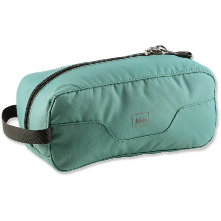 Entertainment Carry your shower essentials in this easy-to-access, low-profile toiletry kit to save significant weight and space in your pack. - $12.93