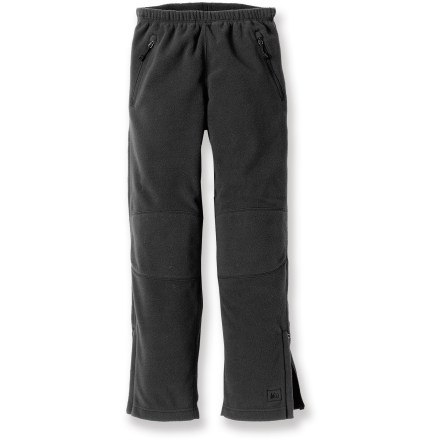 The REI Roaster fleece pants have a simple, non-bulky fit that is perfect as a layering piece or worn on their own for a boy's active pursuits in cold weather. - $7.83