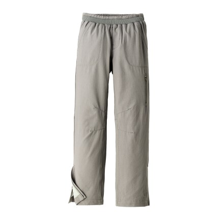 The REI Piccadilly pants are perfect for a girl's outdoor adventures, from the trail to the school yard. Tough polyester fabric features a Durable Water Repellant coating to resist light precipitation; full lining offers warmth and comfort. Elastic waist with drawcord and faux fly offers a custom fit and pull-on ease. Zippered leg vents make it easy to take the pants off or put them on over shoes or boots; articulated knees offer ease of movement. The Piccadilly pants feature back patch pockets, slash hand pockets and a zippered security pocket on the left leg. - $23.83