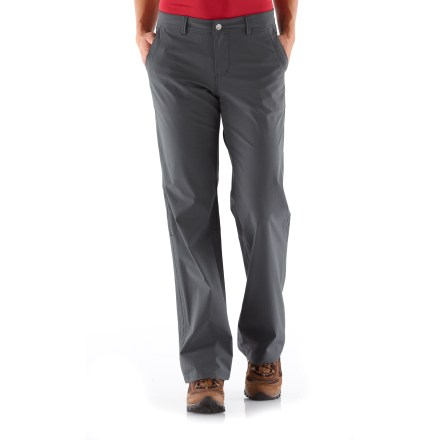 Camp and Hike The infinitely comfortable REI Northway pants are perfect for the plane, train or automobile. The fabric provides 4-way stretch and quick-drying comfort, plus resists snags and pilling. - $23.83