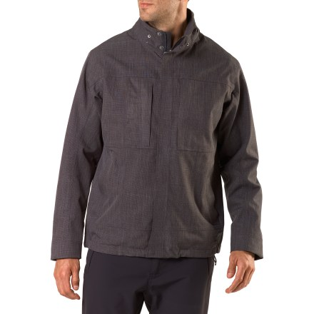The sharp REI Montour Travel jacket combines casual good looks and weather-ready performance for city dwellers and urban adventurers. You' ll appreciate a removable hood and generous pocket storage. - $78.83