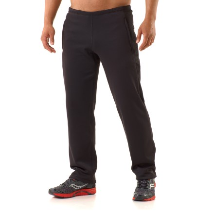 Fitness Warm and lightweight, the men's REI Powerflyte pants are designed for those who won't settle for staying in. Active fit with 4-way stretch is great for cool-weather outdoor training, trail running, hiking and even power lounging. Very comfortable fabric features a moisture-wicking brushed inner face and a smooth, quick-drying outer face. Stretchy inserts of Polartec(R) Power Dry(R) fabric wick moisture, dry quickly and enhance comfort. Fabric protects skin from too much UV with a UPF factor of 50+. Elastic waistband with adjustable drawcord offers an extremely comfortable fit. 2 zippered pockets shelter hands, and a small drop-in pocket stores accessories. You'll go farther without discomfort thanks to flat seams which are placed to work with your stride. Reflective logo. Zippered cuffs make it easy to put on the men's REI Powerflyte pants over shoes or boots. - $47.99