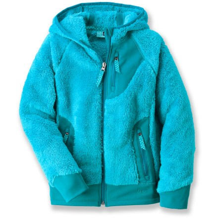 The REI Salish fleece jacket surrounds girls with snuggly warmth. This luxurious, heavy fleece jacket is sure to be a favorite when the temperature drops. - $16.83
